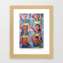 La hinchada de Boca está cantando by Diego Manuel Framed Art Print