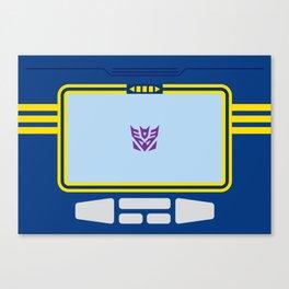 Soundwave Transformers Minimalist Canvas Print