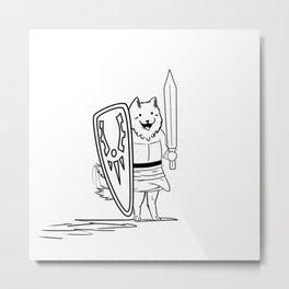 Lesser Dog (outline) Metal Print