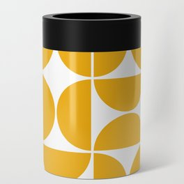 Mid Century Modern Geometric 04 Yellow Can Cooler