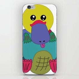 Rainbow Platypus iPhone Skin