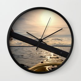 Into the Wild Waters Wall Clock
