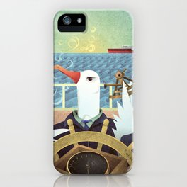 A-Z Animal, Albatross Quartermaster - Illustration iPhone Case