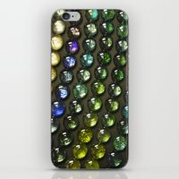 nail polish iPhone & iPod Skins featuring Marbles and Nail Polish by cirqueduchloe