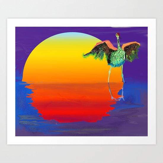 bosque bird Art Print