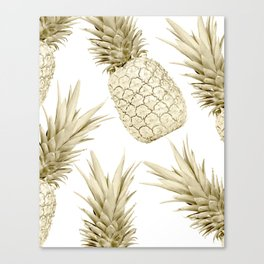 Gold Pineapple Party Canvas Print