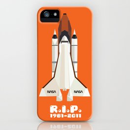 RIP, space shuttle iPhone Case