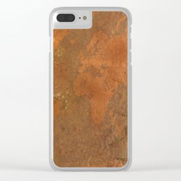 Rock Map 1 - Organic World Map Series Clear iPhone Case