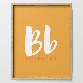 Personalized Art - Letter Bb Serving Tray