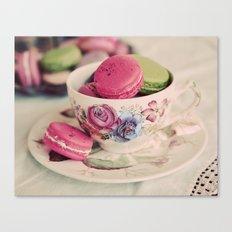 Macarons & Tea Canvas Print