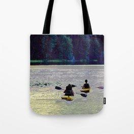Twilight Kayaking Beach Lake, PA Tote Bag