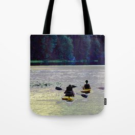 Twilight Kayaking Beach Lake, PA Tote Bag