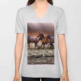 Animal Horses Fauna Unisex V-Neck