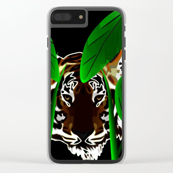 Tiger In the Night Clear iPhone Case