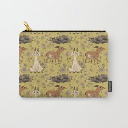 Summer Goat Pattern Carry-All Pouch