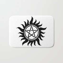 Anti Possession Sigil Black Bath Mat