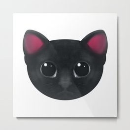 Black Cat Hypnotise Metal Print