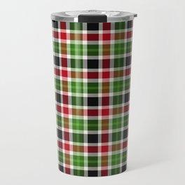 Christmas Plaid 14 Travel Mug
