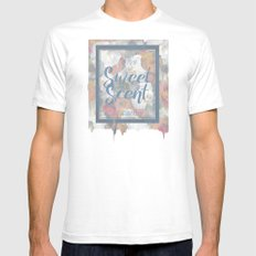 The Sweet Scent of Spring White SMALL Mens Fitted Tee
