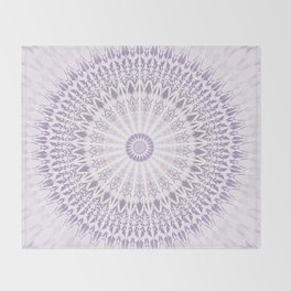 Purple Mandala Throw Blanket