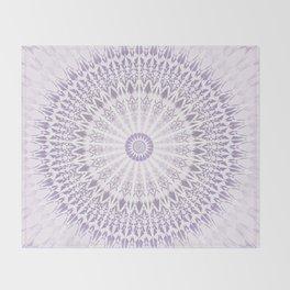 Purple Mandala Throw Blanket