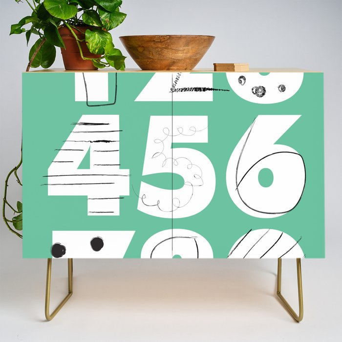 Funky Numbers Credenza