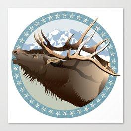 Bull Elk Bugling Canvas Print