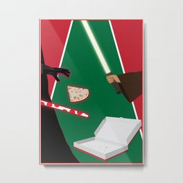 The Fight for the Last Slice - The Force Metal Print