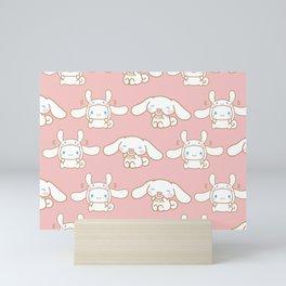 Cinnamoroll Pink Pattern  Mini Art Print