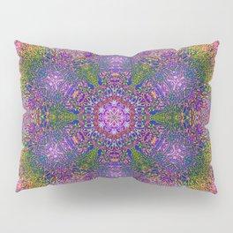 Color Displacement Flower Pillow Sham