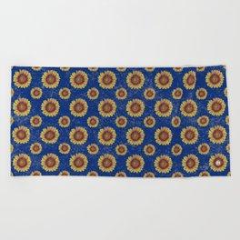 Swirly Sunflower Beach Towel