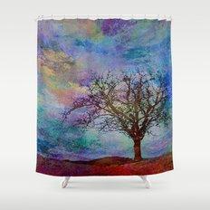 Alone yet Powerful Shower Curtain