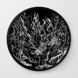 Dynamic Space (Black) Wall Clock