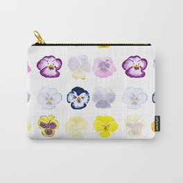 colorful pansies watercolor painting Carry-All Pouch