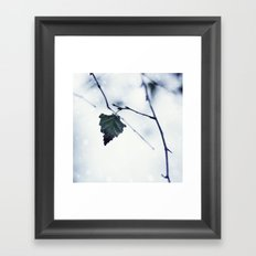 The last leaf Framed Art Print