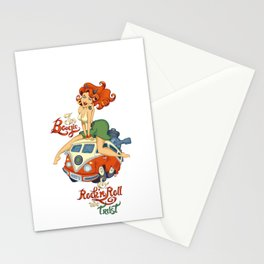 In Boogie and Rockn'roll we trust Stationery Cards