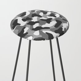 Grey Gray Camo Camouflage Counter Stool