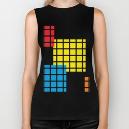 Modern geometric background, red, yellow, green,orange and blue  #society6 #decor #buyart #artprint Biker Tank