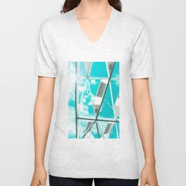 Technicolor Abstract Unisex V-Neck