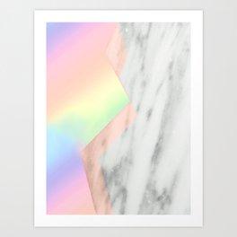 Unicorn Texture on Carrara Italian Marble Art Print