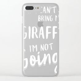 Giraffe-tshirt,-my-Giraffe Clear iPhone Case