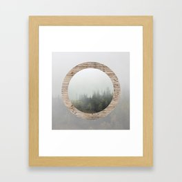 At the still point of the turning world. Framed Art Print