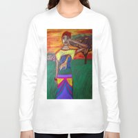africa Long Sleeve T-shirts featuring Africa by Ksuhappy