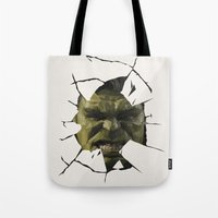 hulk Tote Bags featuring Hulk by s2lart