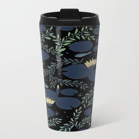 night waterlily Metal Travel Mug