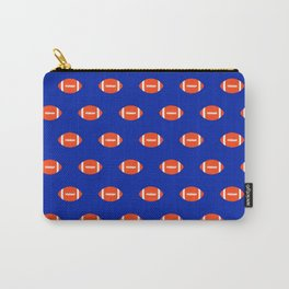 Football Florida University silhouette orange and blue pattern sports college gators gator fan Carry-All Pouch