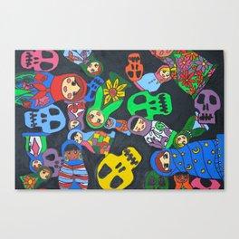 Dolls N Skulls Canvas Print