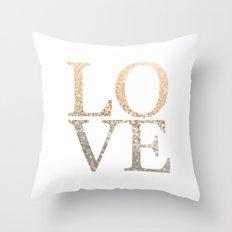 GOLD LOVE Throw Pillow