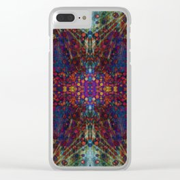 Andromeda geometry Clear iPhone Case