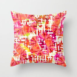 Rosy jungles Throw Pillow